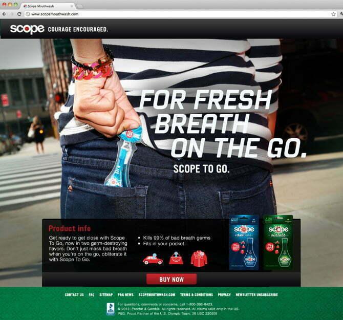 Bizadmark Advertising Agency Scope Mouthwash Courage Encouraged