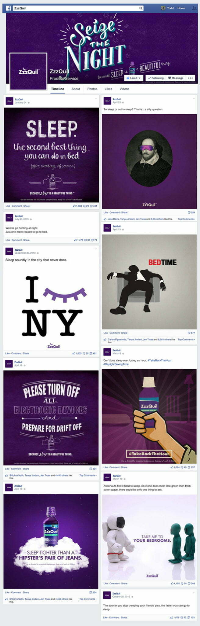 Bizadmark Advertising Agency ZZZquil Campaign Social