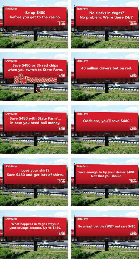 Bizadmark advertising state farm billboard