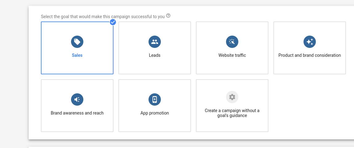 Google Adwords Goal