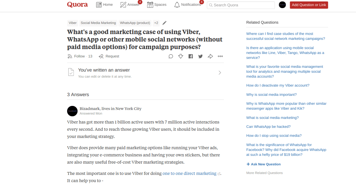 Bizadmark Quora Marketing