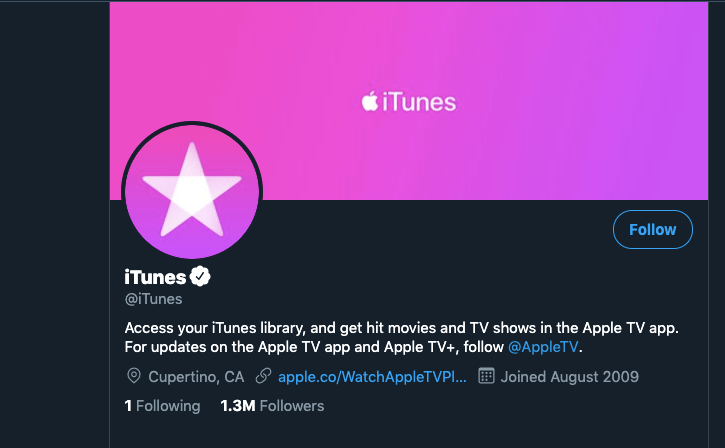 Itunes twitter strategy